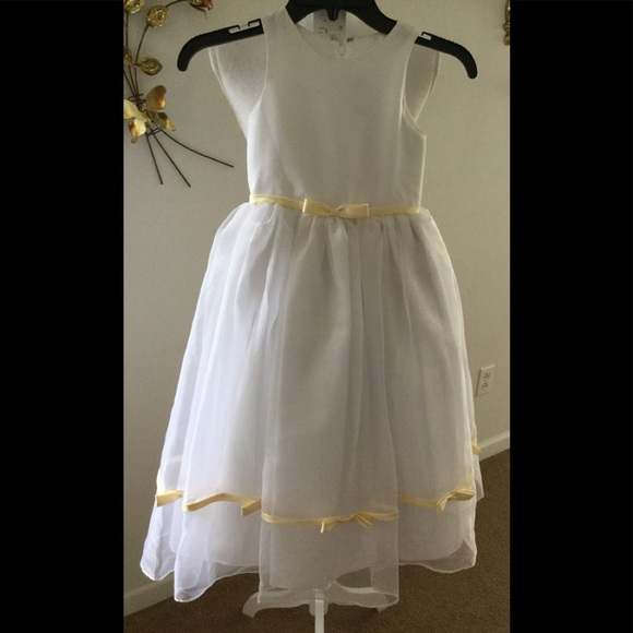 Sweet beginnings dresses was 35 whiteyellow flower girl dress m5ade231f2ab8c519929e8928 mightylinksfo